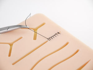 "Realistic Skin Suture Training Model™ - ""I've trained several times and I've been able to make my patients feel safe and calm.""  - Dr. Rachel"
