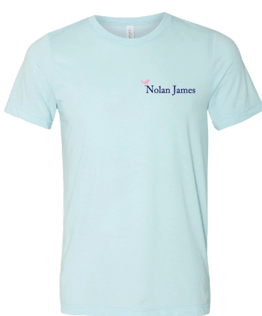 Nolan James T-Shirt - Ice Blue