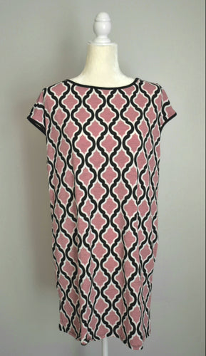 Pink &  White Tunic with Pockets