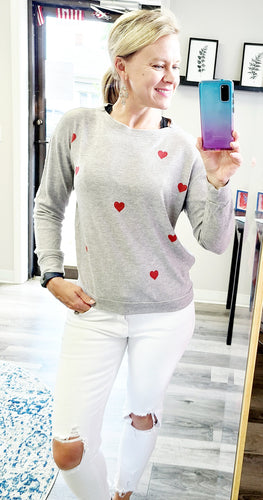 All Heart Heather Grey Sweatshirt - 1 Small Left!