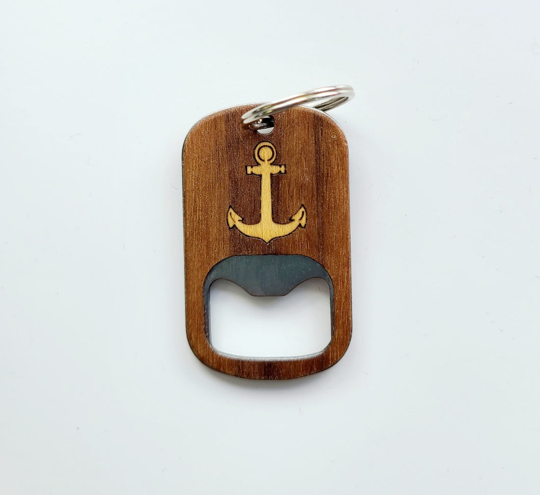 Boat Anchor Bottle Opener Keychain
