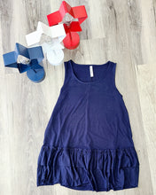 Load image into Gallery viewer, Navy Ruffle Tank