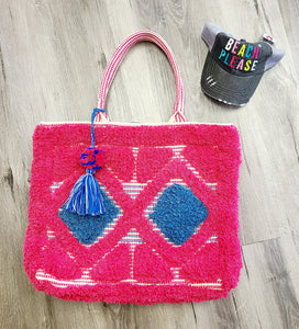 Pink and Blue Tote