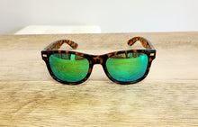 Load image into Gallery viewer, Fort Knocks Tortoise Shell & Green Moonshine Polarized Sunglasses