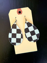 Load image into Gallery viewer, Checkered Flag Earrings