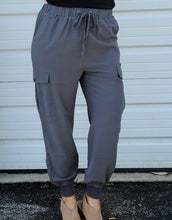 Load image into Gallery viewer, Cargo Joggers - Charcoal