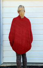 Load image into Gallery viewer, Red Cardigan with Pockets