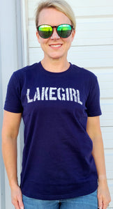 Lake Girl Tee - Navy