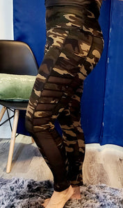 Camo Leggings with Side Pockets