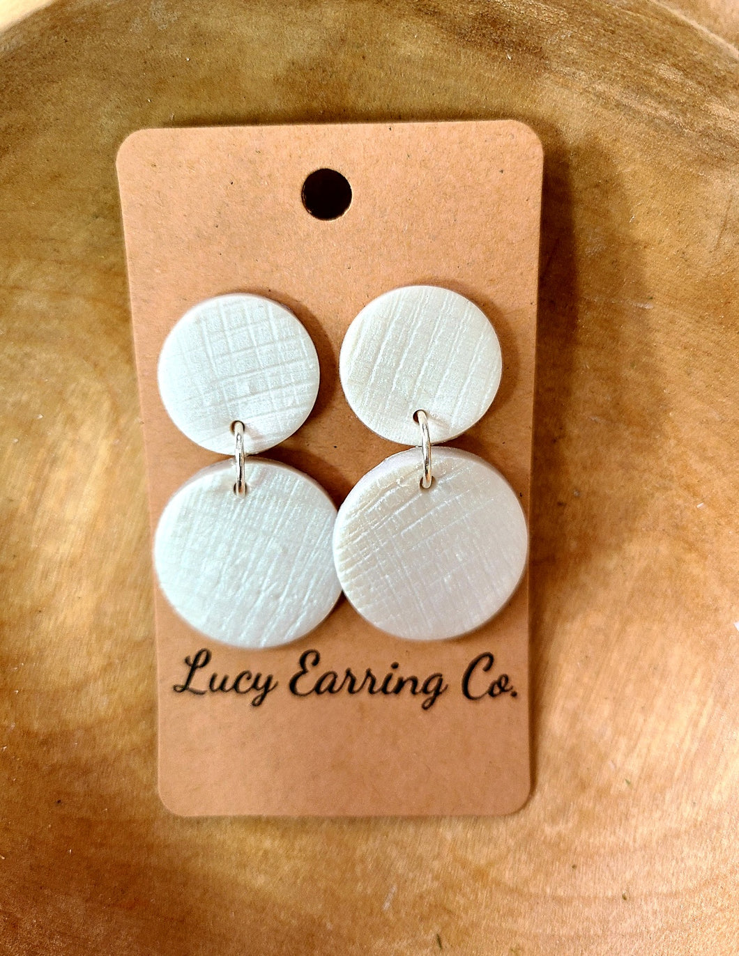 Silver Handmade Clay Earrings