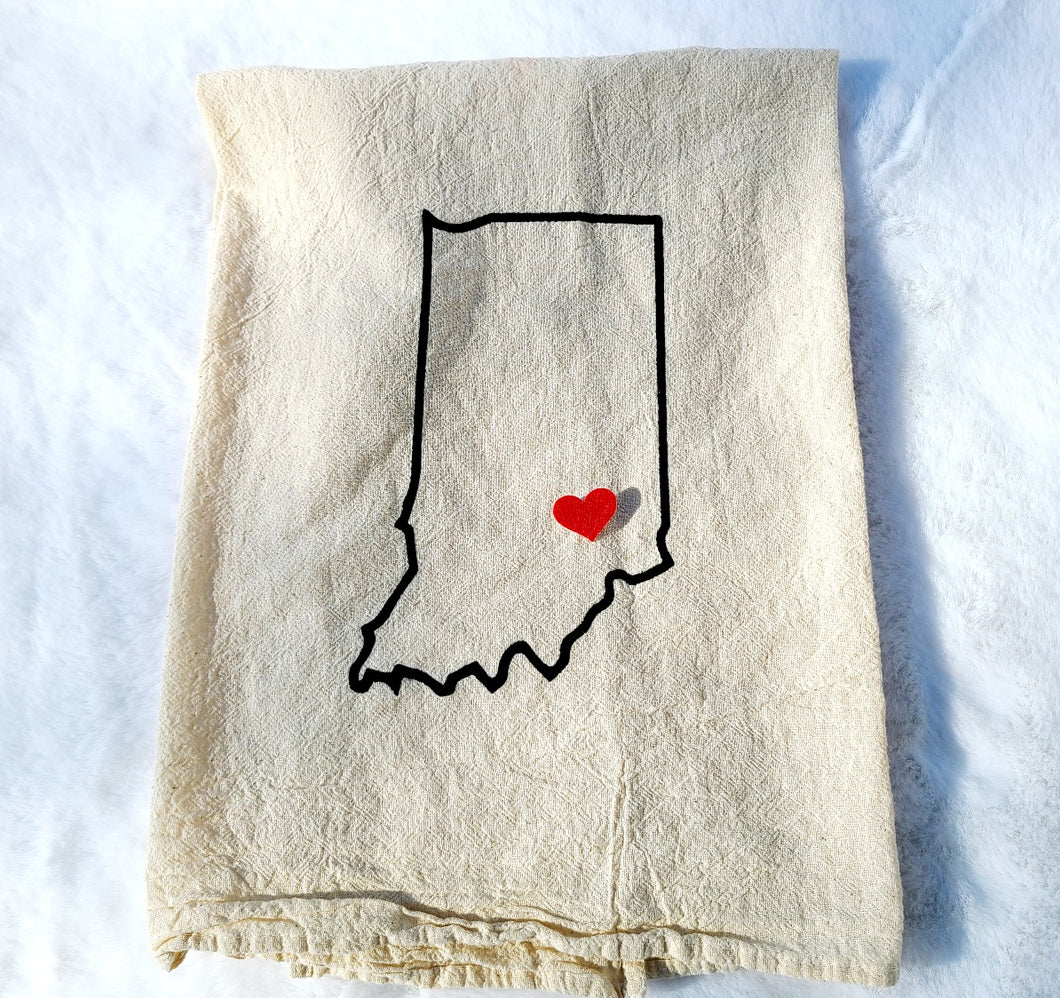 Indiana Tea Towel
