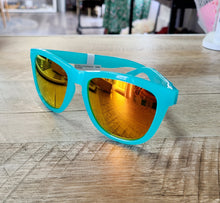 Load image into Gallery viewer, Pool Blue & Sunset Lense Polarized Sunglasses