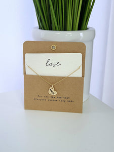 Mom Heart Necklace & Card