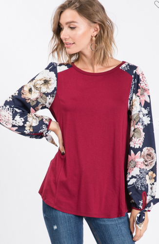 Flowers & Wine Top