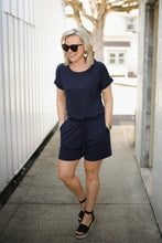 Load image into Gallery viewer, Navy Blue Romper