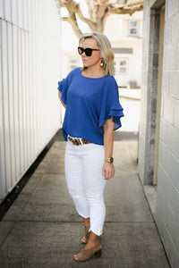 The Sleeves Say it All Cobalt Top