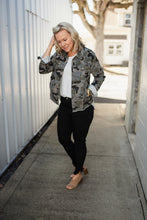 Load image into Gallery viewer, Grey Camo Distressed Jacket