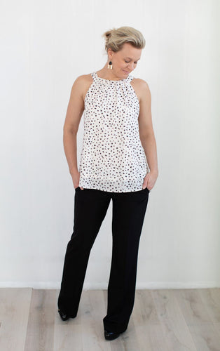 Dot Print Halter Top