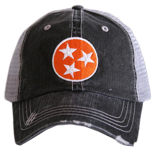 Tennessee Tri-Star Trucker Hats