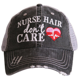 Nurse Hair Don't Care Trucker Hats