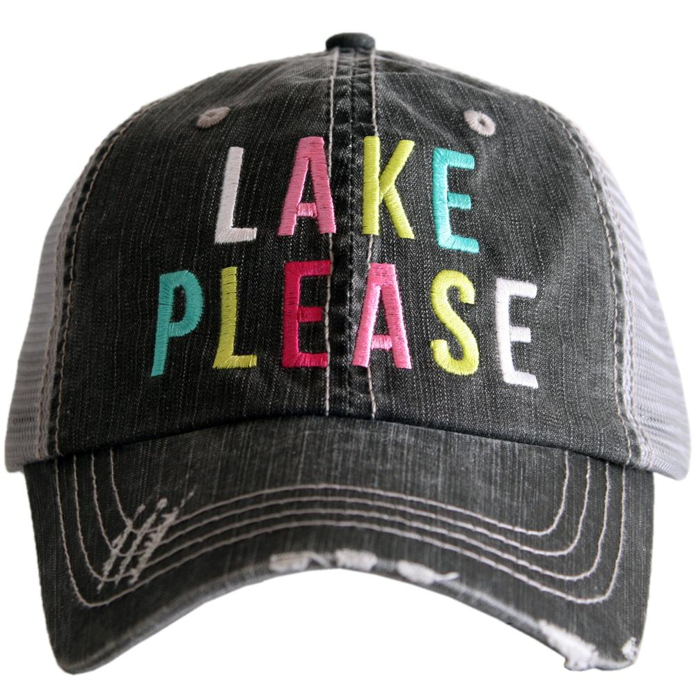 Lake Please Trucker Hat - Gray