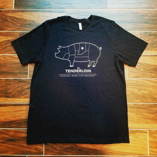 The Tenderloin - Indiana Born and Breaded T-Shirt - Black