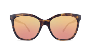 Deja Views - Matte Tortoise Shell & Rose Gold Polarized Sunglasses