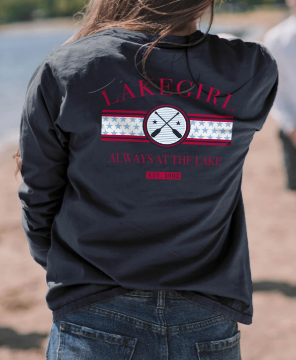 Lakegirl - Always at the Lake Long Sleeve Tee