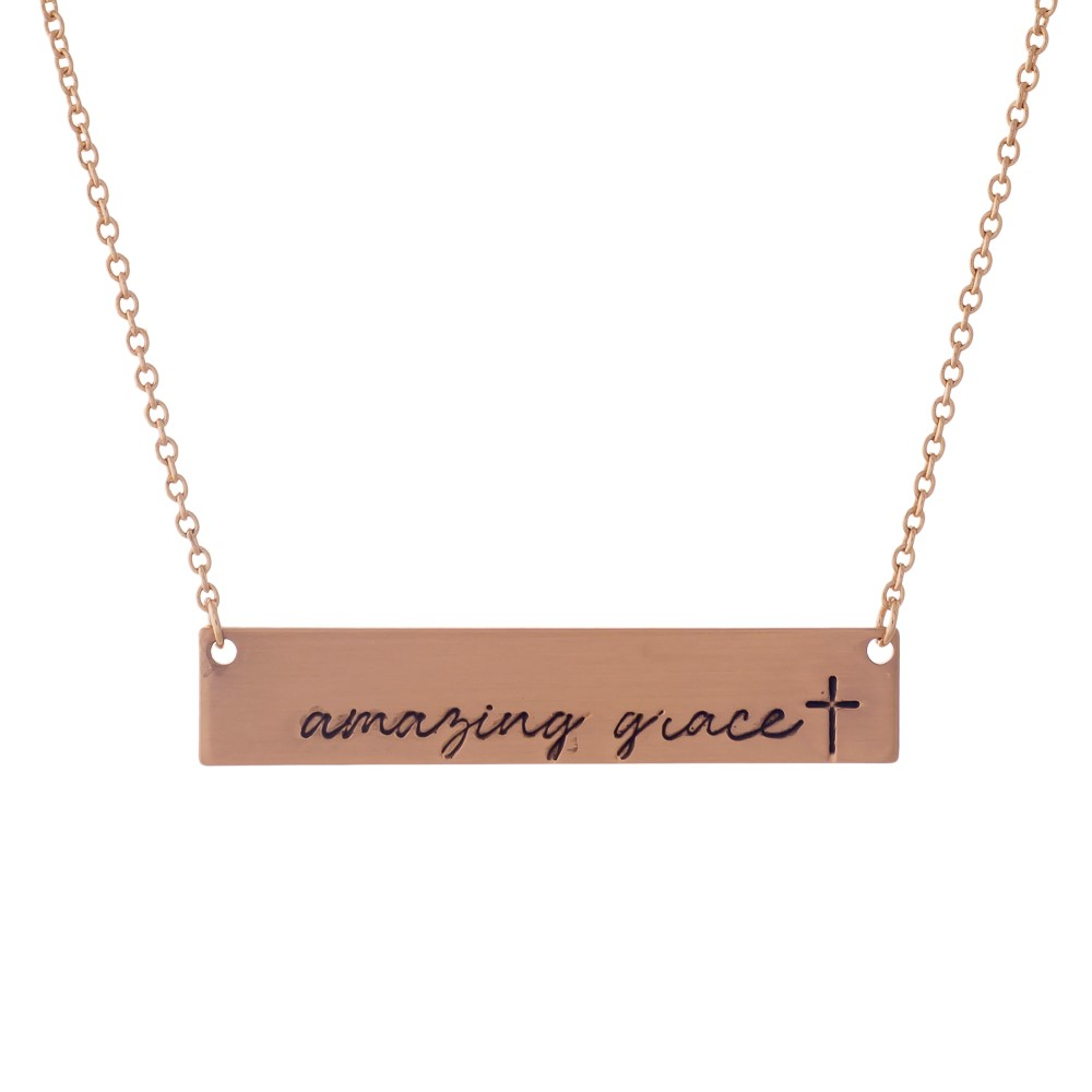 Blessed Necklace -  Rose Gold