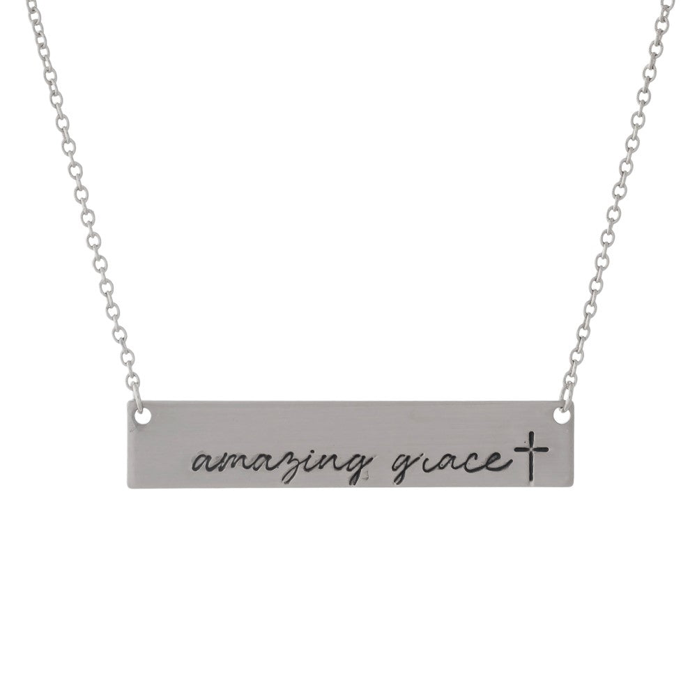 Amazing Grace Necklace - Silver