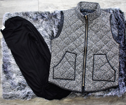 Black and White Vest