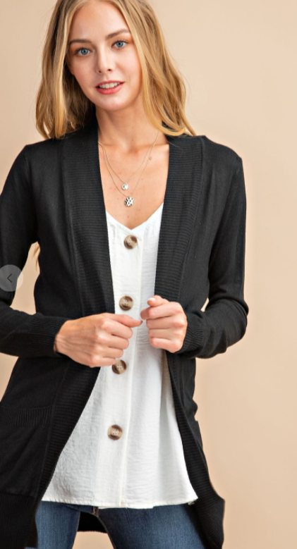 The Classic Cardigan - Black