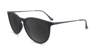 Mary Janes - Matte Black & Smoke Polarized Sunglasses