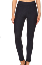 Load image into Gallery viewer, Black Striped Jeggings