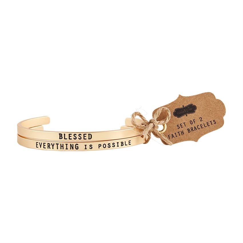 Blessed Bangle Bracelet Set