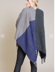 Cobalt & Grey Cape