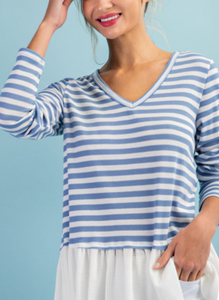 Nautical Ruffles Top