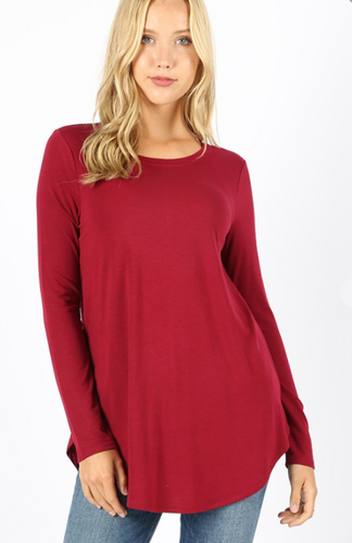 The Best Long Sleeve Top - Cabernet