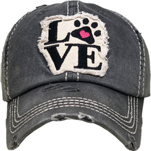 Load image into Gallery viewer, Love My Dog Distressed Hat