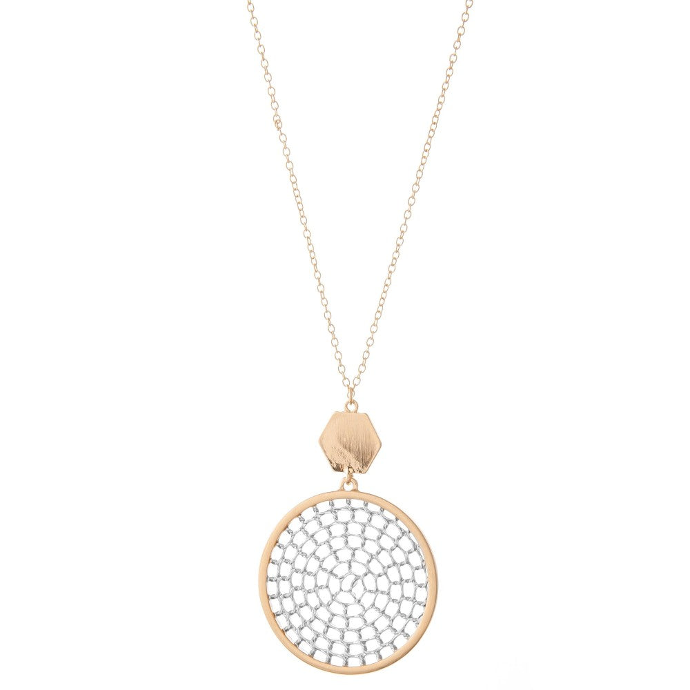 Circle Long Necklace - Multiple Colors
