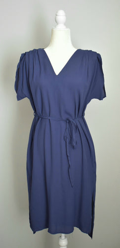 Navy Hi-Lo Short Sleeve Dress - 1 Small Left!