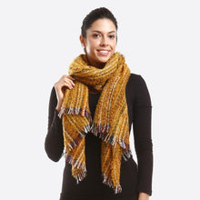 Load image into Gallery viewer, Mustard Blanket Scarf