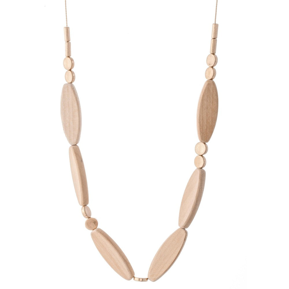 Long Natual Wooden Necklace