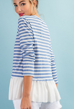 Load image into Gallery viewer, Nautical Ruffles Top