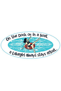 Lakegirl - On The Dock... Sticker