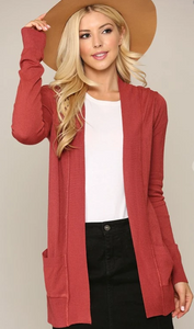 The Classic Cardigan - Poppy