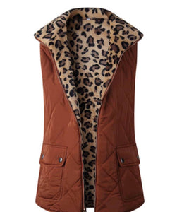 Rust with Leopard Vest