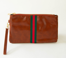 Load image into Gallery viewer, Preppy Red & Green Wristlet
