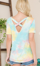 Load image into Gallery viewer, Summer Tie-Dye Criss Cross Top
