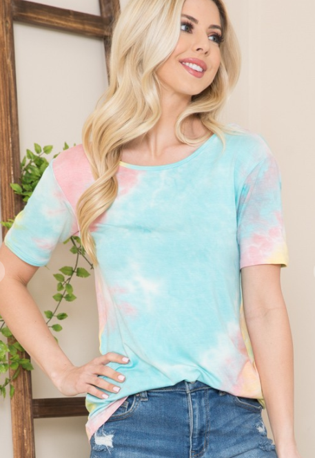 Summer Tie-Dye Criss Cross Top